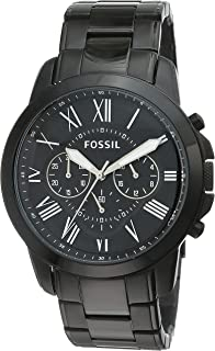 Fossil Grant Chronograph Analog Black Dial Men's Watch - FS4832