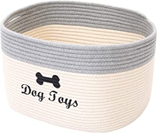 Geyecete Panier de rangement pour chien en corde de coton Panier de rangement pour chien Panier à linge Panier de rangemen...