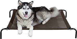 Furhaven Pet Dog Bed | NEW & IMPROVED Mold & Mildew Resistant Reinforced Breathable Cooling Mesh Elevated Pet Cot Bed for ...