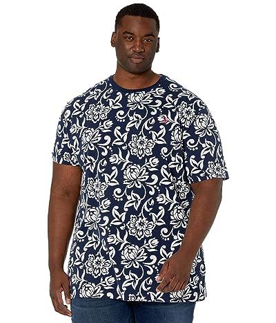 Polo Ralph Lauren Big & Tall Big Tall Cotton Jersey Crew Neck T-Shirt (French Navy Stencil Print) Men