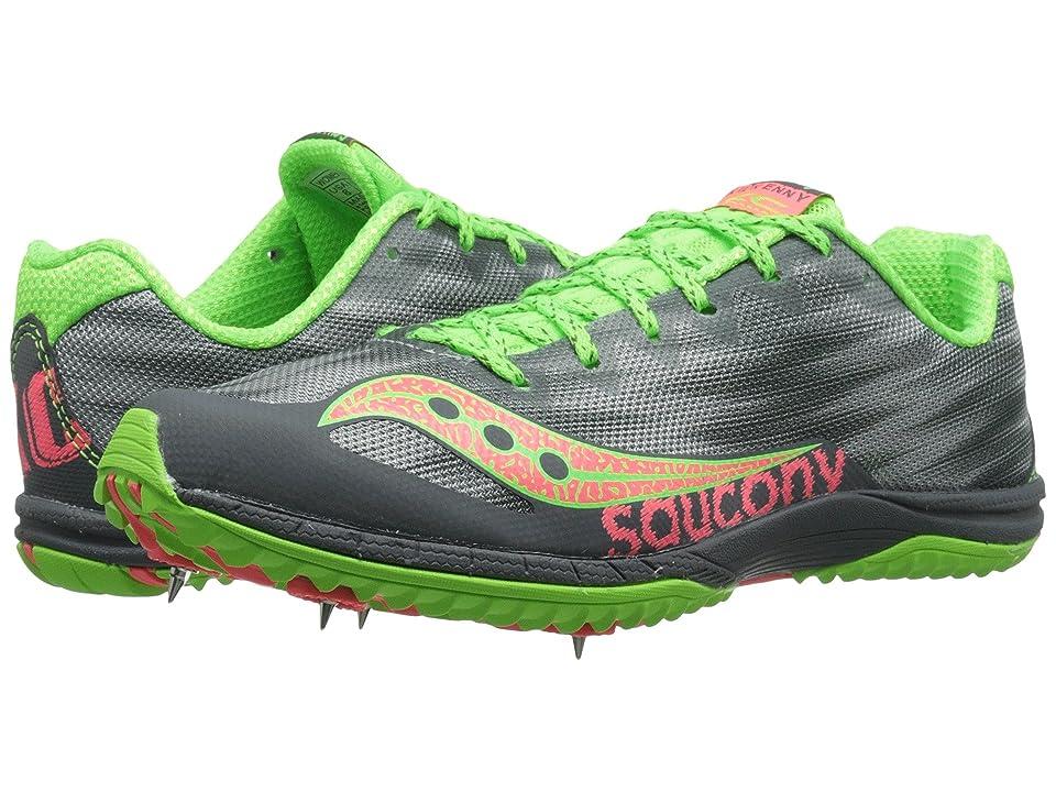 Saucony Kilkenny XC5 (Spike) (Grey/Slime/Pink) Women