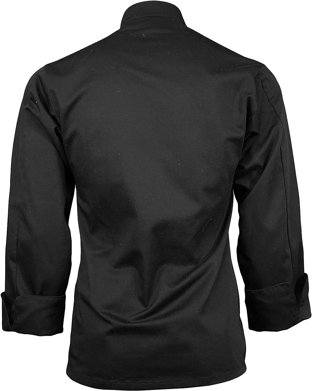 ChefsCloset Personalized Embroidered Poplin Unisex Long Sleeve Customized Chef Coat