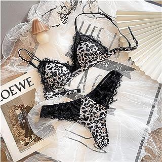 ملابس داخلية نسائية من مجموعة الملابس الداخلية الفرنسية الخفيفة إف بي داخلي مجموعة ملابس داخلية للنساء (اللون : A، المقاس:...