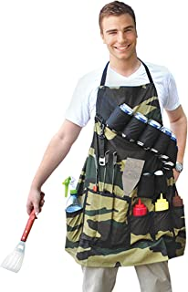 BigMouth Inc The Grill Sergeant BBQ Apron, Cotton Camouflage Gag Gift for Cookouts, Adjustable Strap, Pockets and Bottle Opener Included