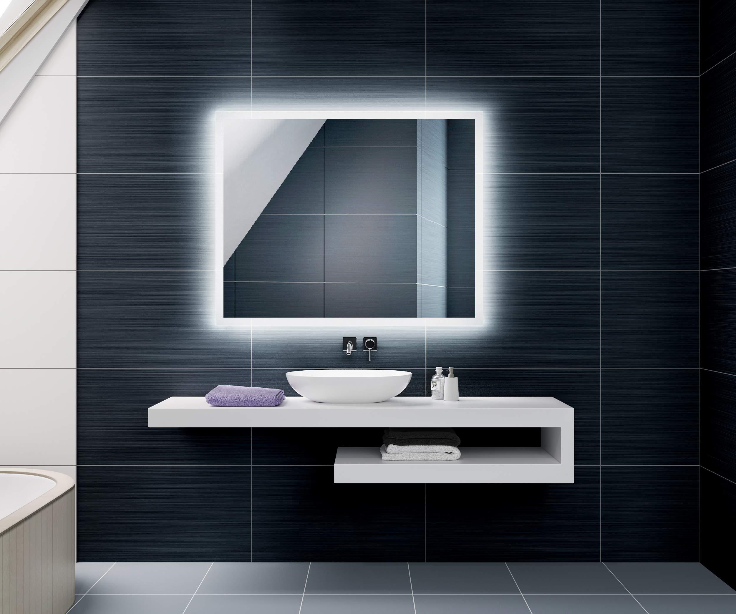 Diferentes tama/ños para Ba/ño Dormitorio Maquillaje L78 Luz Espejo de Pared con Accesorios FORAM Espejo de Ba/ño con Iluminaci/ón LED