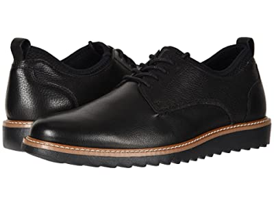 Dockers Elon Leather Smart Series Dress Casual Oxford (Black Burnished Oily Crazy Horse) Men