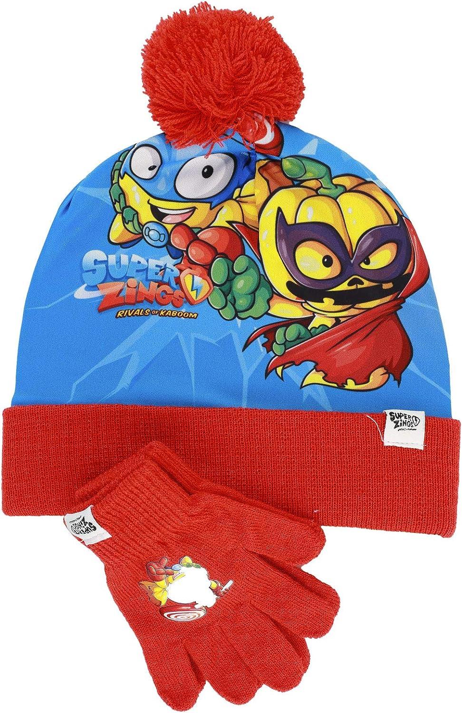 Ensemble dhiver pour fille Characters Cartoons Chapeau gants en tricot Bing Ladybug LOL Surprise Spiderman Super Zings 2 pi/èces