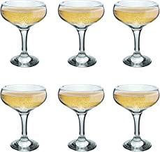 Rink Drink Champagne Glasses Vintage Coupe Glass Saucer – 200ml – Pack of 6