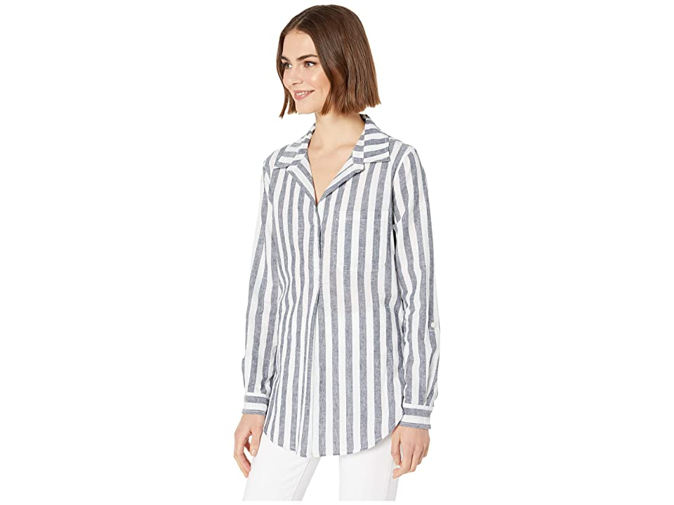 Sanctuary Miles Tunic (Be Athentic Stripe) Women's Blouse, White