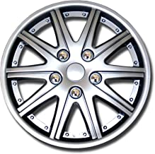 TuningPros WSC-027S14 Hubcaps Wheel Skin Cover 14-Inches Silver Set of 4