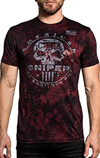 c4d2656f4 Affliction CK Cover Fire Chris Kyle Short Sleeve Kryptek Graphic Fashion T- shirt For Men