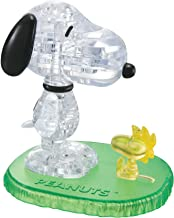 BePuzzled Original 3D Crystal Jigsaw Puzzle - Snoopy & Woodstock Assembly Brain Teaser, Fun Yet Challenging Peanuts Model Toy Gift Decoration for Adults & Kids Age 12 & Up, 41Piece (Level 1)