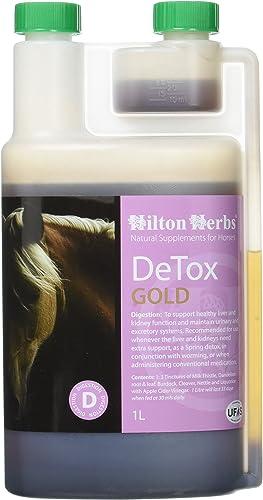 Hilton Herbs De-Tox Gold 1 L Complément Alimentaire Cheval Cure pour Foie et Reins