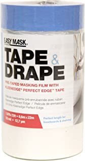 Trimaco 949460 Easy Mask Tape & Drape Pre-Tape Masking Film with 14 day Blue PerfectEdge Tape, 0.6m x 22m