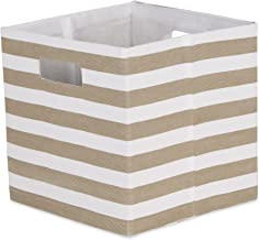 DII Polyester Cube Storage Collection Collapsible Hard Sided Bin, 13x13x13, Stone