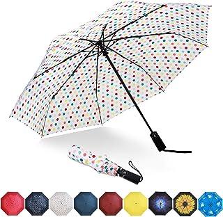 Eono by Amazon - Paraguas Plegable Automático Impermeable, Paraguas de Viaje a Prueba de Viento, Folding Umbrella, Recubri...