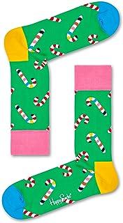 Happy Socks Men's Christmas Cracker Candy Cane Gift Box Socks