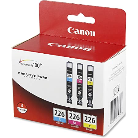 Canon CLI226 3 Color Multi Pack Compatible to iP4820, MG5220, MG5120, MG6120, MG8120, MX882, iX6520, iP4920, MG5320, MG6220, MG8220, MX892 (CLI-226 3 Color Pack)