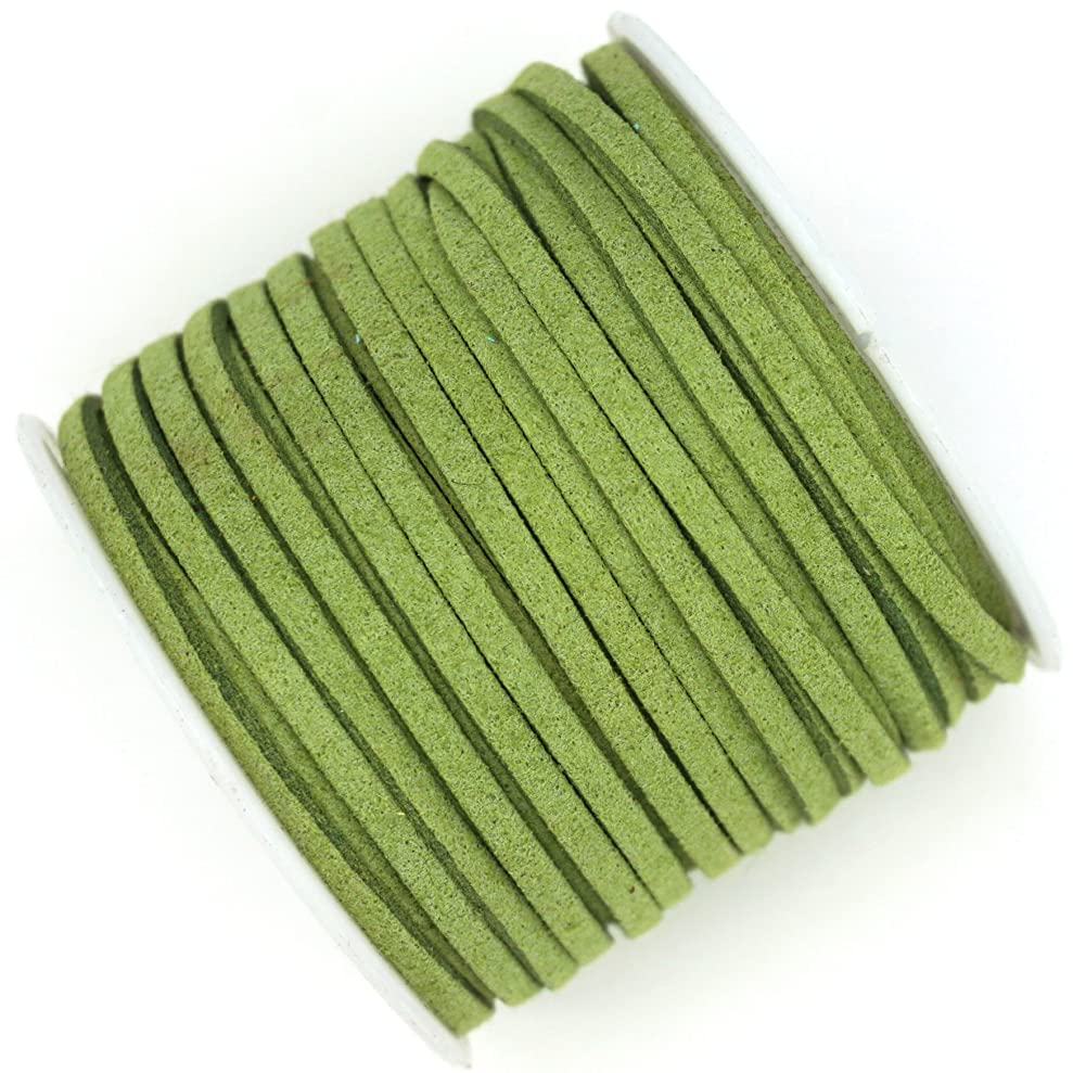 10 Yards Faux Suede Leather Lace Cord 3x1.5mm for Jewelry & Crafts You Choose Color (Lime Green) cnfvuzmqj3268