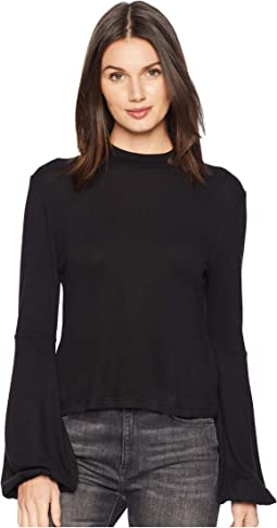 Going Places Sweater Knit Mock Neck Top