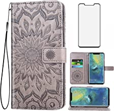 Asuwish Phone Case for Huawei Mate 20 Pro Wallet Cases with Tempered Glass Screen Protector and Leather Slim Flip Cover Ca...