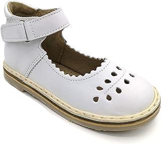 22 EU (13.5 cm) Genuine Leather Orthopedic Baby Girls Shoes, White Kids (Infant-Toddler) Sandals
