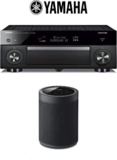 Yamaha AVENTAGE RX-A1080 7.2-Channel 4K Network AV Receiver + (1) Yamaha WX-021 MusicCast 20 Wireless Speaker (Black) with Alexa Control - Bundle