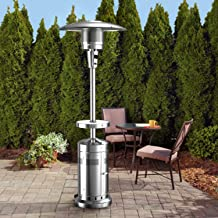Outdoor Heater 47000 BTU Garden Patio Stainless Steel Standing Propane Gas, Silver Gary Accessories Heater Backyard, Warm ...
