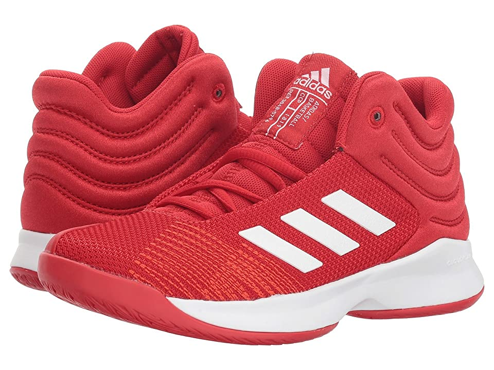 adidas Kids Pro Spark Basketball (Little Kid/Big Kid) (Scarlet/White/Red) Kid