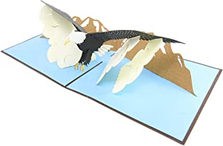 PopLife Eagle Bird Pop Up Card, 3D Card for All Occasions - Eagle Scouts Birthday