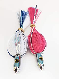 Gone Fishing Ilander Style Lure - 7 inch Nylon with Flashers (2 Pack)