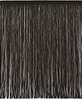 DÉCOPRO 12 Inch Chainette Fringe Trim, Style# CF12 Color: Black - K9, Sold by The Yard