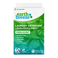 Deals on 30Ct Earth Breeze Liquidless Laundry Detergent Sheets Fresh Scent