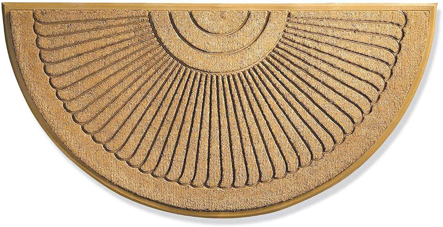 Sunburst Coir Brush Doormat 30  X 48  Large