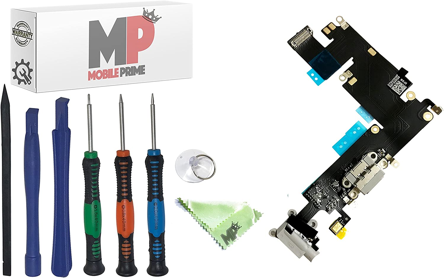 MobilePrime Bargain Gray Charging Excellent Port Replacement iP for Kit Compatible