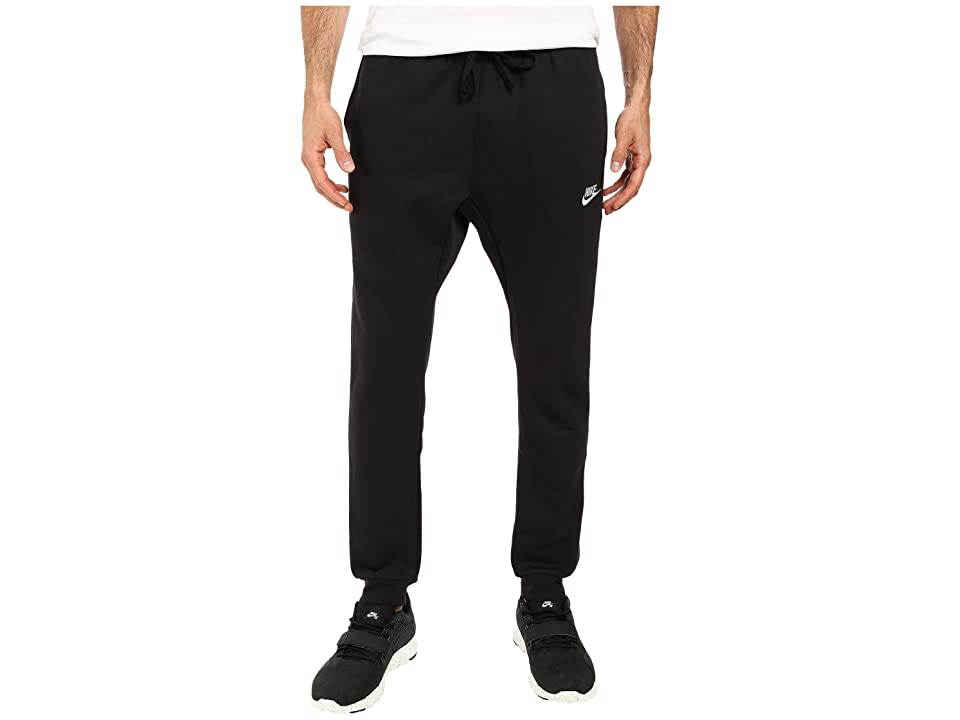 Nike Sportswear Fleece Jogger (Black/White) Men