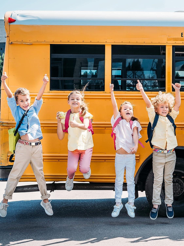 Hamry 4 Pieces Kids Elastic Stretch Belt for Boys Girls Adjustable Elastic Belt with Metal Buckle Child Belts for Christmas Birthday School Kids