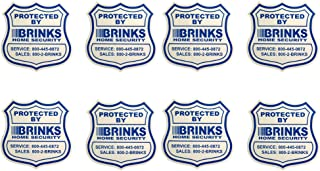 8 Home Security Stickers Window / Door Decals