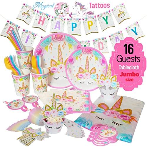 Unicorn Decorations for Birthday Party: Amazon com