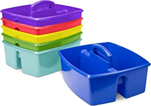 Storex Large Classroom Caddy,13 x 11 x 6.575 Inches, Assorted Colors, Case of 6 (00948E06C)
