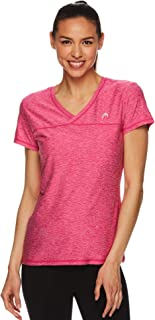 HEAD Women's Perfect Match Short Sleeve Workout T-Shirt - Performance V-Neck Activewear Top