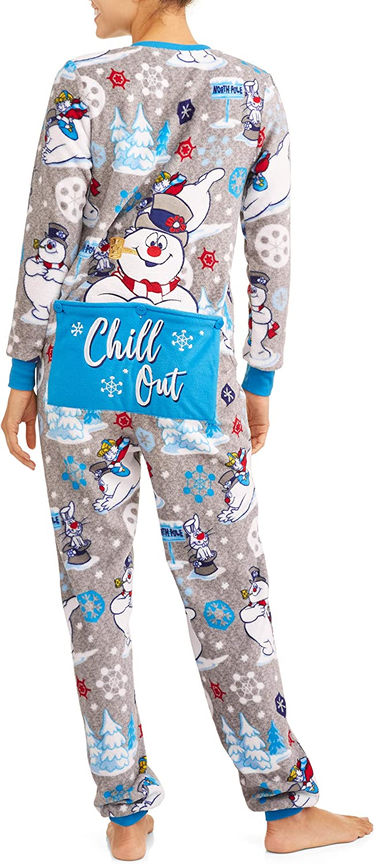 Frosty the Snowman Womens Christmas Union Suit Pajamas Pjs
