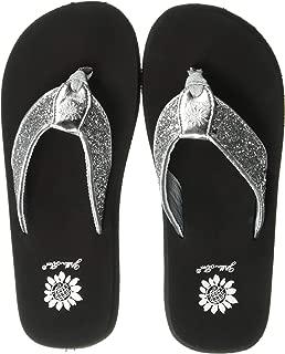 Best silver bling flat sandals Reviews