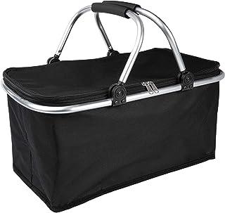 ONVAYA® Einkaufskorb faltbar mit Kühlfunktion   schwarz   Faltkorb mit Deckel   Isolierkorb   Einkaufstasche   Klappkorb  ...