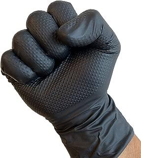 ShuBee Black Gauntlet Silver Edition Black Nitrile Gloves Powder Free X Large