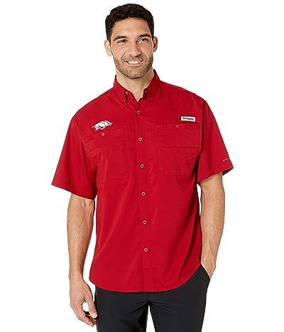 Columbia College Arkansas Razorbacks Collegiate Tamiami II Short Sleeve Shirt (Red Velvet) Men