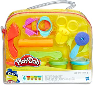 Play-Doh - Starter Set inc 4 Tubs of Dough & 6 Accessories - sensory and educational craft toys for kids, boys, girls - Ag...