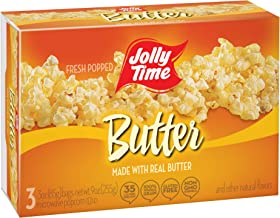 product image for Jolly Time Real Butter Gluten-Free & Trans-Fat Free Microwave Popcorn, 3-Count Boxes (Pack of 12)