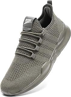 Baskets et Chaussures de Sport sans Lacets Homme Tennis Légères et Confortables Running Garcon