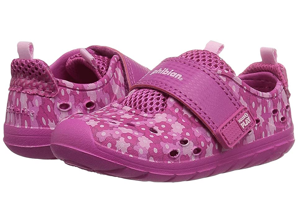 Stride Rite Made 2 Play Phibian (Infant/Toddler) (Pink Floral) Girl